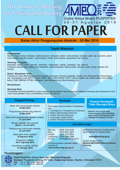 Call For Paper Amteq 2016